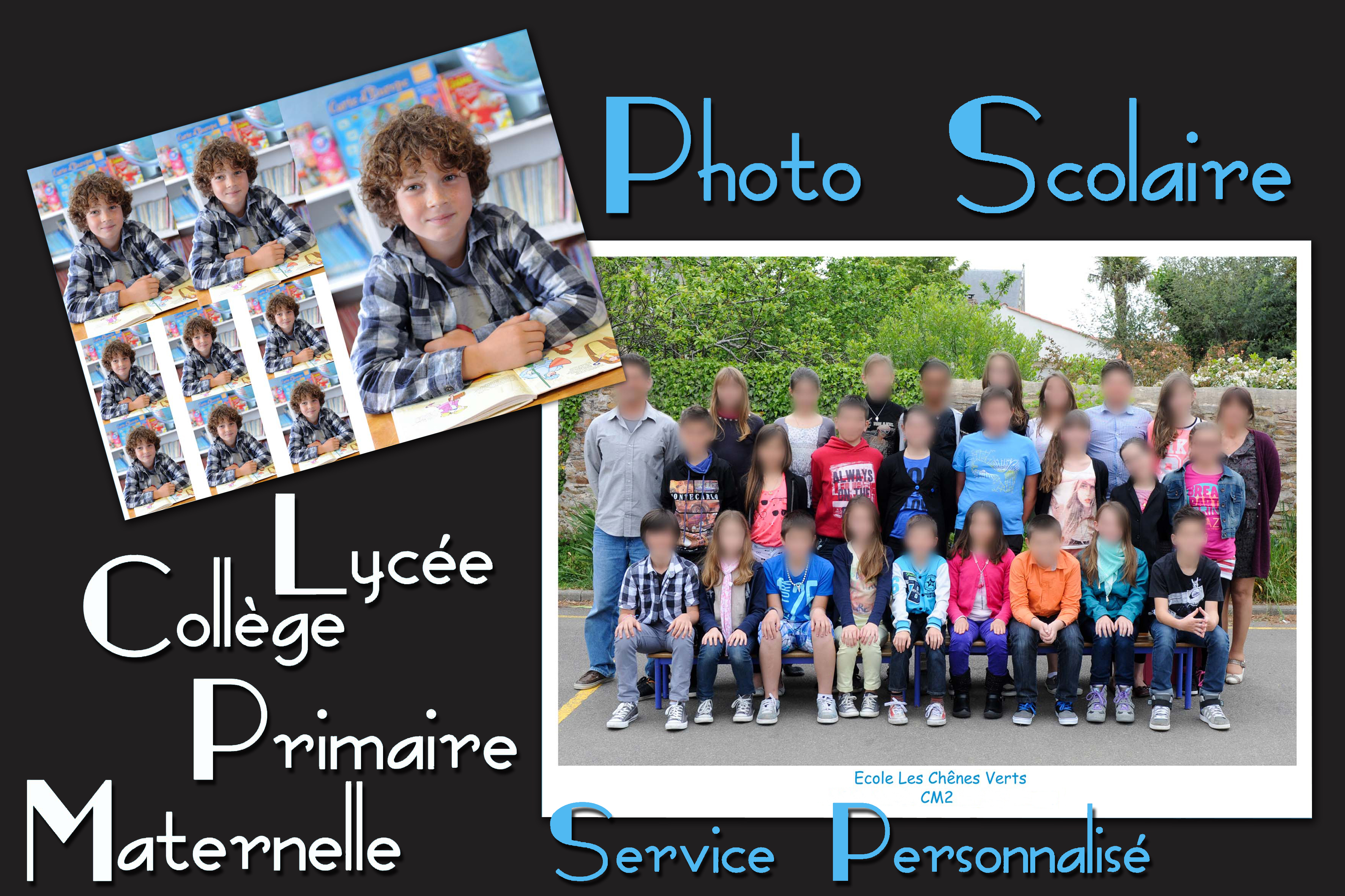 Portrait photo de classe - groupe scolaire